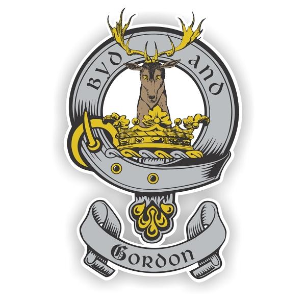 Clan Gordon Scottish Shield Vinyl Die Cut Decal Sticker