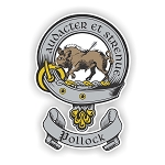 Clan Pollock Scottish Shield Vinyl Die-Cut Decal / Sticker ** 4 Sizes **