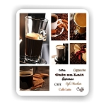 Coffee Colage Mouse Pad 9.25