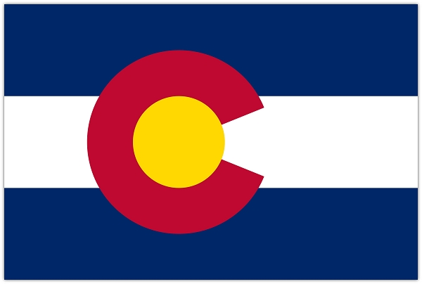 Colorado State Flag Die Cut Decal Sticker 4 Sizes