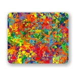 Colorful Swirls Mouse Pad 9.25
