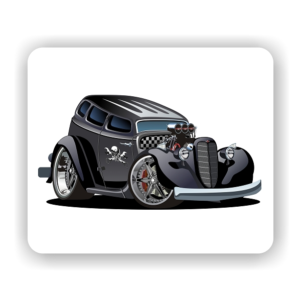 cool sedan hotrod mouse pad x. Black Bedroom Furniture Sets. Home Design Ideas
