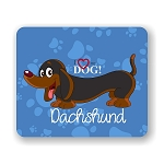 I Love my Dachshund Mouse Pad 9.25