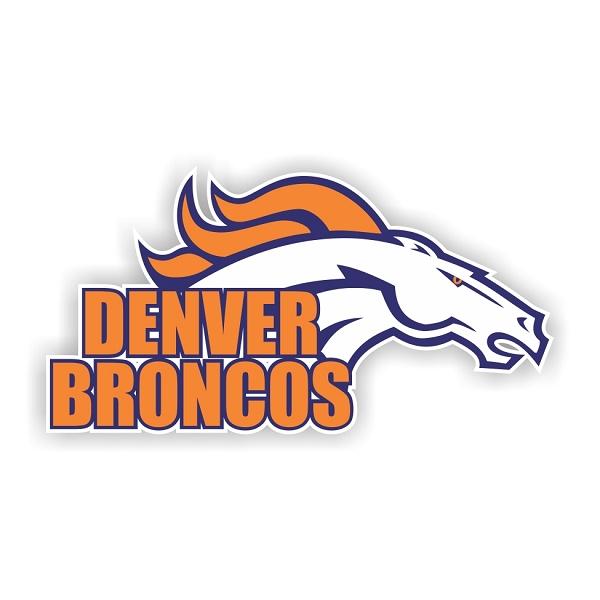 Denver Broncos B Die Cut Decal 4 Sizes