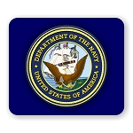 US Navy Emblem Mouse Pad  9.25