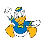 Donald Duck Vinyl Die-Cut Decal / Sticker ** 4 Sizes **