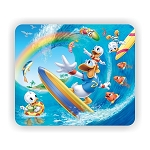 Donald duck and Family Surfing Mouse Pad  9.25