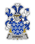 Dorsey Family  Crest Vinyl Die-Cut Decal / Sticker ** 4 Sizes **