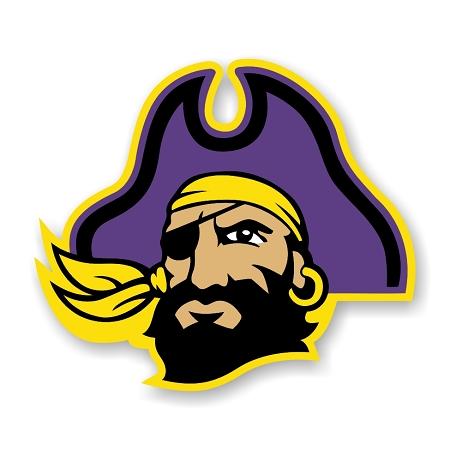 Ecu East Carolina University Pirates A Die Cut Decal