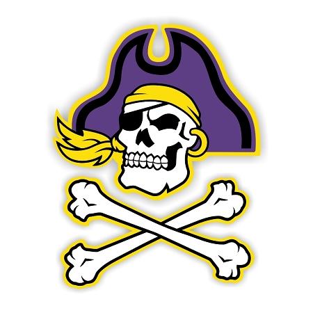 Ecu East Carolina University Pirates B Die Cut Decal