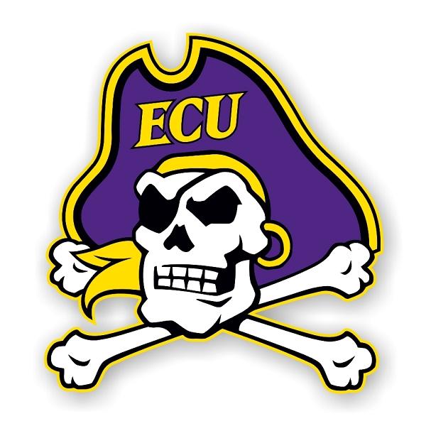 ECU East Carolina University Pirates (G) Die-Cut Decal ...