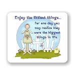 Enjoy The Little Things Mouse Pad 9.25