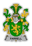 Farrell Family  Crest Vinyl Die-Cut Decal / Sticker ** 4 Sizes **