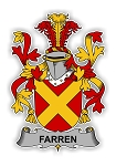 Farren Family  Crest Vinyl Die-Cut Decal / Sticker ** 4 Sizes **