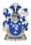 Faulkner Family  Crest Vinyl Die-Cut Decal / Sticker ** 4 Sizes **