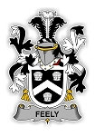 Feely Family  Crest Vinyl Die-Cut Decal / Sticker ** 4 Sizes **