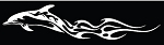 Flaming Dolphin Tribal Vinyl Truck Car Auto Decal ** 3 Sizes **