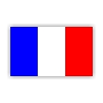 France Flag  Vinyl Die-Cut Decal / Sticker ** 4 Sizes **