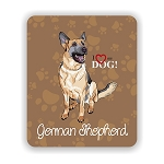 I Love my German Shepherd Mouse Pad 9.25