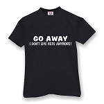 GO AWAY I DON'T LIVE HERE ANYMORE MEN'S T-SHIRT