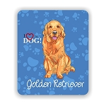 I Love my Golden Retriever Mouse Pad 9.25
