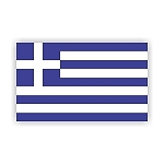 Greece Flag  Vinyl Die-Cut Decal / Sticker ** 4 Sizes **