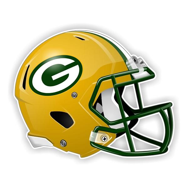 Green Bay Packers New Shape Helmet Die Cut Decal 4 Sizes
