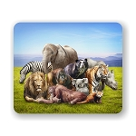Group of Animals Mouse Pad 9.25