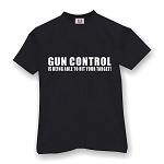 GUN CONTROL IS BEING ABLE TO HIT YOUR TARGET  MEN'S T-SHIRT