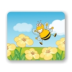Happy Bee Mouse Pad 9.25
