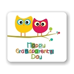 Happy Grandparent Day Owls  Mouse Pad 9.25