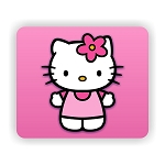 Hello Kitty  Mouse Pad  9.25