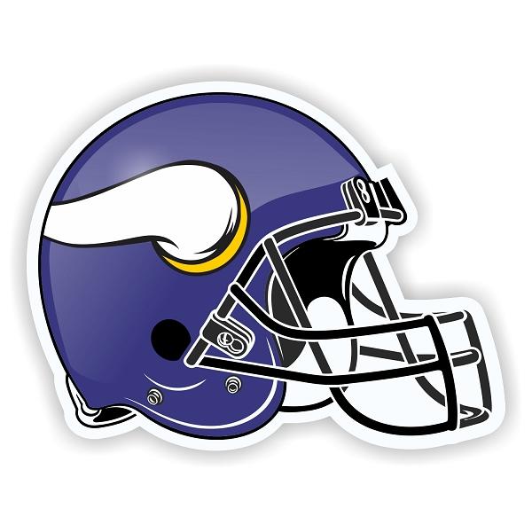 Helmet Minnesota Vikings Die Cut Decal Sticker 4 Sizes