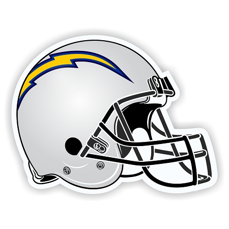Helmet San Diego Chargers Die Cut Decal Sticker 4