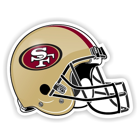 Helmet San Francisco 49ers Die Cut Decal Sticker 4 Sizes