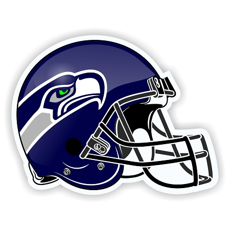 Helmet Seattle Seahawks Die-Cut Decal / Sticker ** 4 Sizes