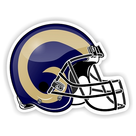 Helmet St Louis Rams Die Cut Decal Sticker 4 Sizes
