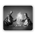 Hippos Fighting Mouse Pad 9.25