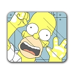 Homer Trapped Mouse Pad 9.25