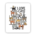 I Love Cats Mouse Pad 9.25