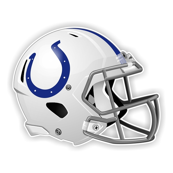 Indianapolis Colts New Shape Helmet Die Cut Decal 4