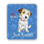 I Love my Jack Russell Terrier Mouse Pad 9.25