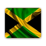 Jamaica Flag Mouse Pad 9.25
