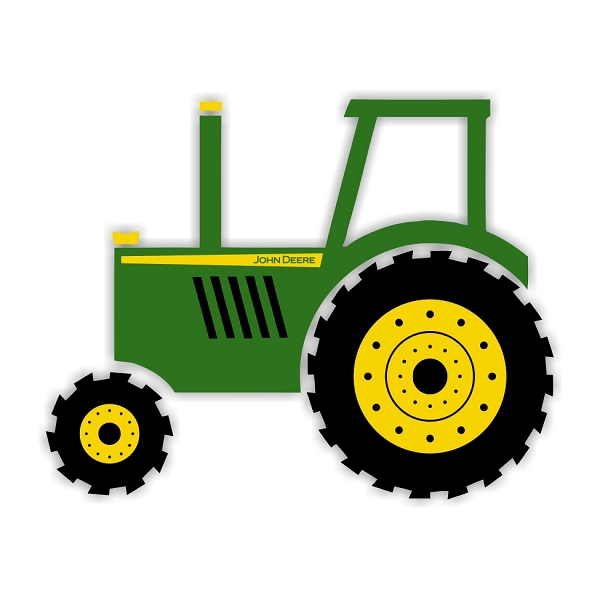 Mickey Mouse Cartoons John Deere Tractors : John deere tractor die cut vinyl decal sticker sizes