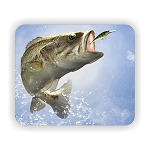 Largemouth Bass Fish (B)  Mouse Pad  9.25