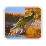 Largemouth Bass Fish (D)  Mouse Pad  9.25