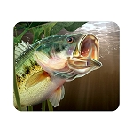 Largemouth Bass Fish (F)  Mouse Pad  9.25