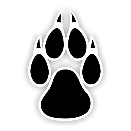 Lobos New Mexico Paw Vinyl Die Cut Decal 4 Sizes