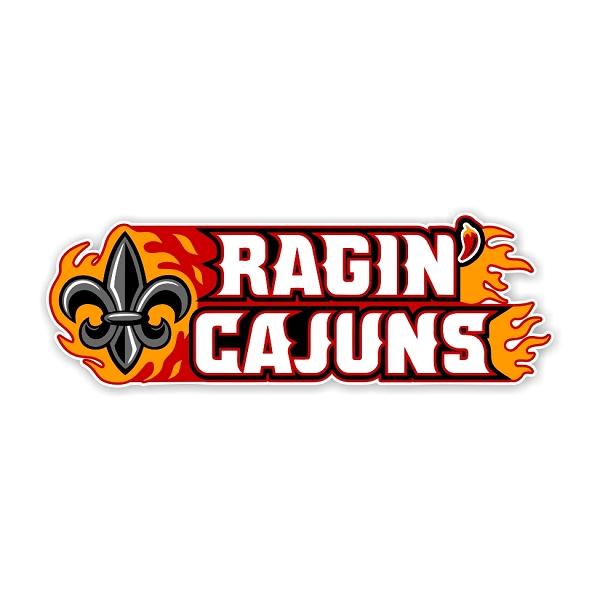 Louisiana Lafayette Ragin Cajuns C Die Cut Decal 4