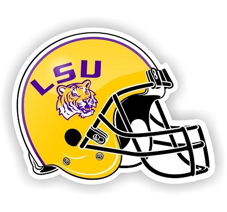 LSU Louisiana State University Tigers Helmet DieCut Decal